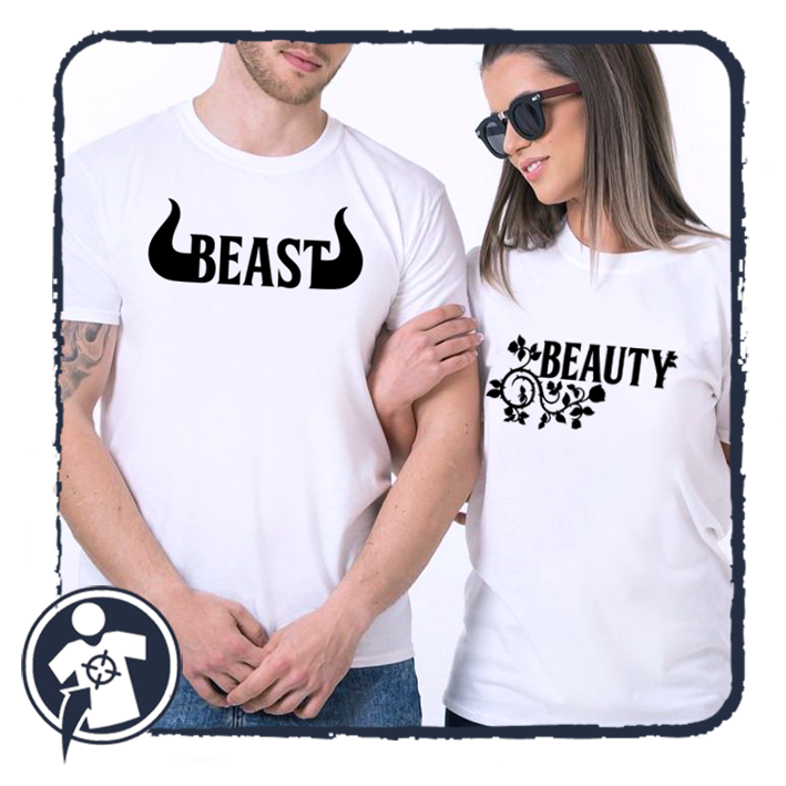 Beast and Beauty - páros póló