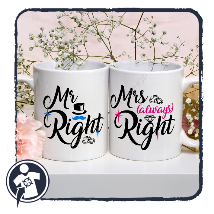 Mr & Mrs (always) Right - páros bögre