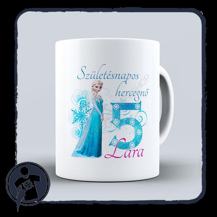 4f194c5d974a Bögre | Születésnapos hercegnős - fehér kerámia bögre | Egyedi ...