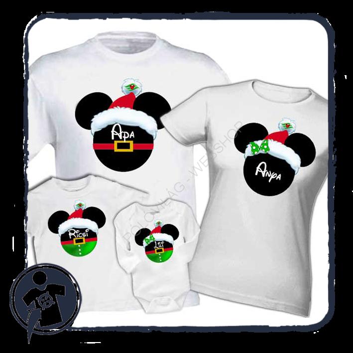 Karácsonyi családi szett - Mickey-Minnie saját névvel 84420a9722
