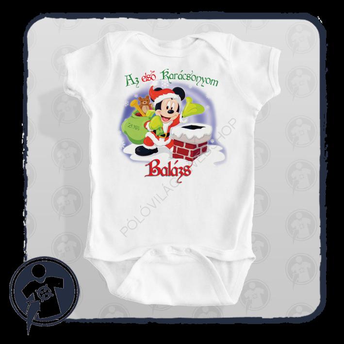 Karácsonyi body póló - saját névvel Első karácsonyom felirattal 1e89227ab6