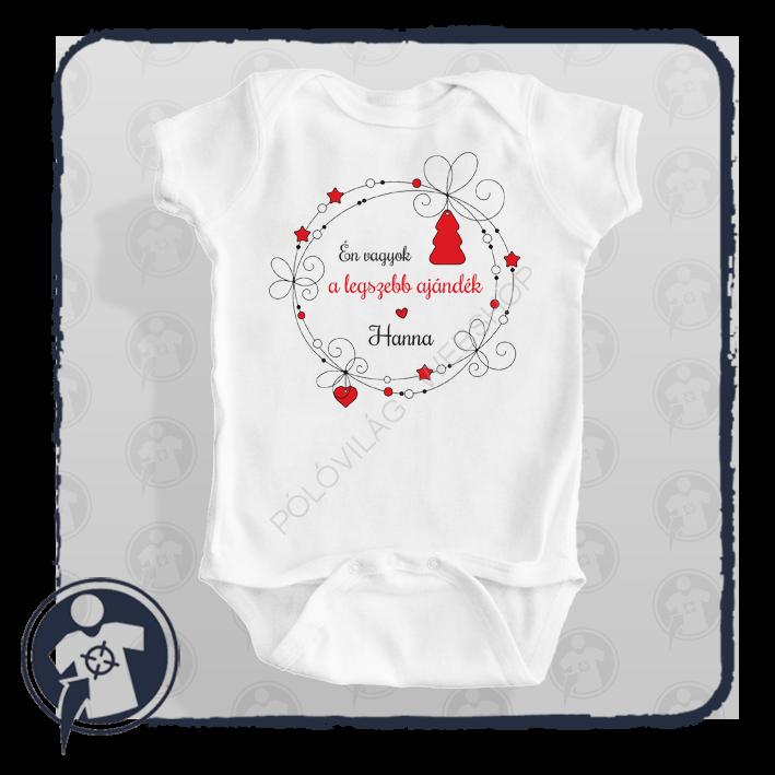 egyedi fehér karácsonyi body póló egyedi felirattal b13f79a2b9