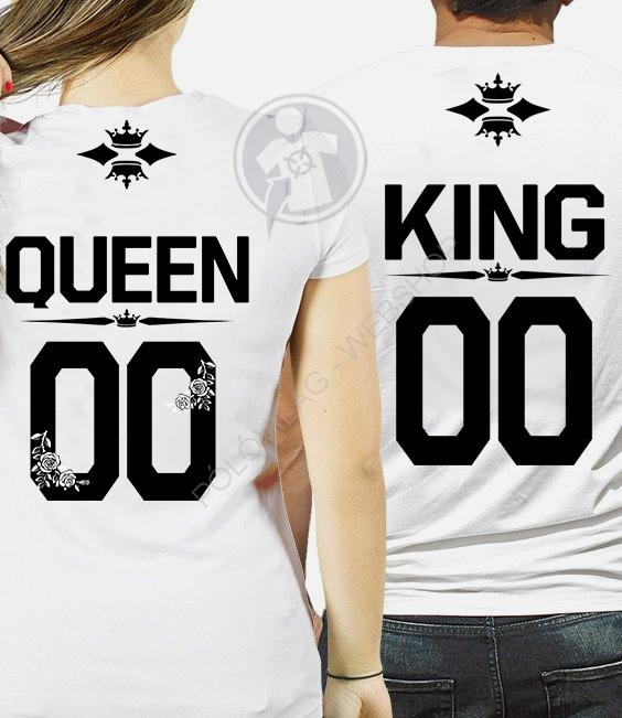 King - Queen páros póló 7f35f71b25