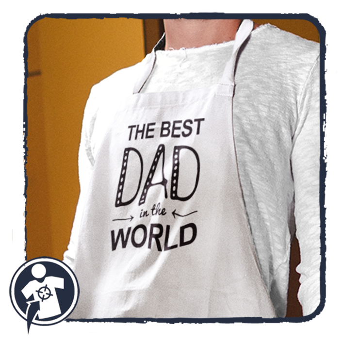 THE BEST DAD in the WORLD - feliratos kötény