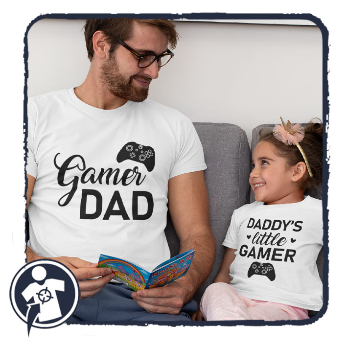 Gamer Dad & Daddy's little gamer - APA-LÁNYA / APA-FIA szett