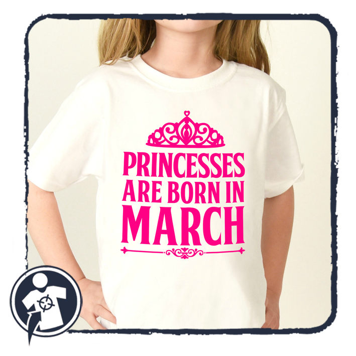 Princesses are born in January, FEBRUARY, March...