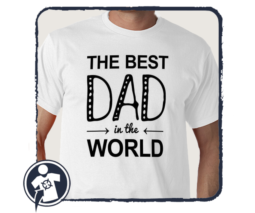 THE BEST DAD in the WORLD - póló empty 8d7f18f2be