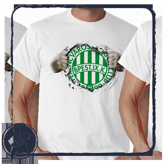 FERENCVÁROS - FRADI Futball fanoknak - tépett póló mintás empty 1df0a35398