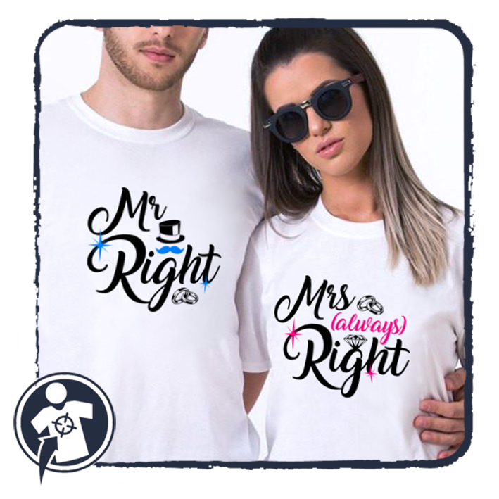 Mr & Mrs (always) Right - páros póló