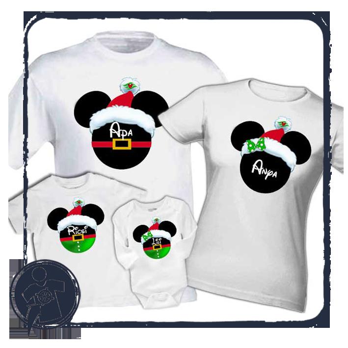 Karácsonyi családi szett - Mickey-Minnie saját névvel 44ef6be461
