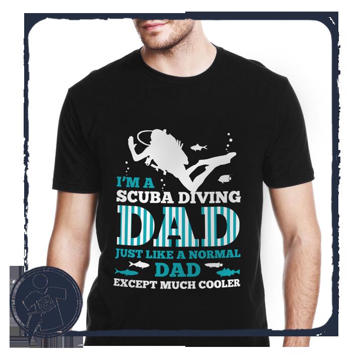 6f1d86412e Apukáknak - Nagypapáknak | Búvár Apa sokkal menőbb... - angol feliratos póló  | Egyedi feliratos pólók, fényképes ajándékok